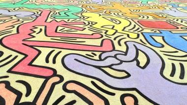 Keith Haring, Street Art, Pisa, Tutto Mondo, city walk